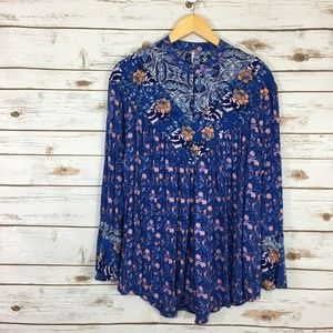 Free People Wildflower Fields Babydoll Blouse